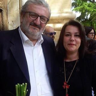 Marilena Lerede con il Governatore Emiliano