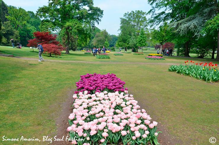 O parque conta com 1 milhão de bulbos de tulipas e já foi eleito o melhor parque italiano e o segundo melhor da europa.