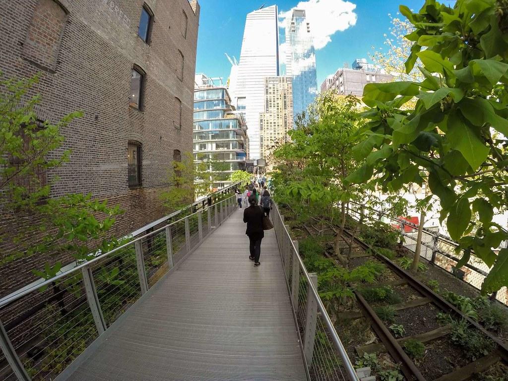 High Line Park in spring