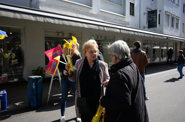 Straßenwahlkampf der Freien Demokraten in Eschweiler.