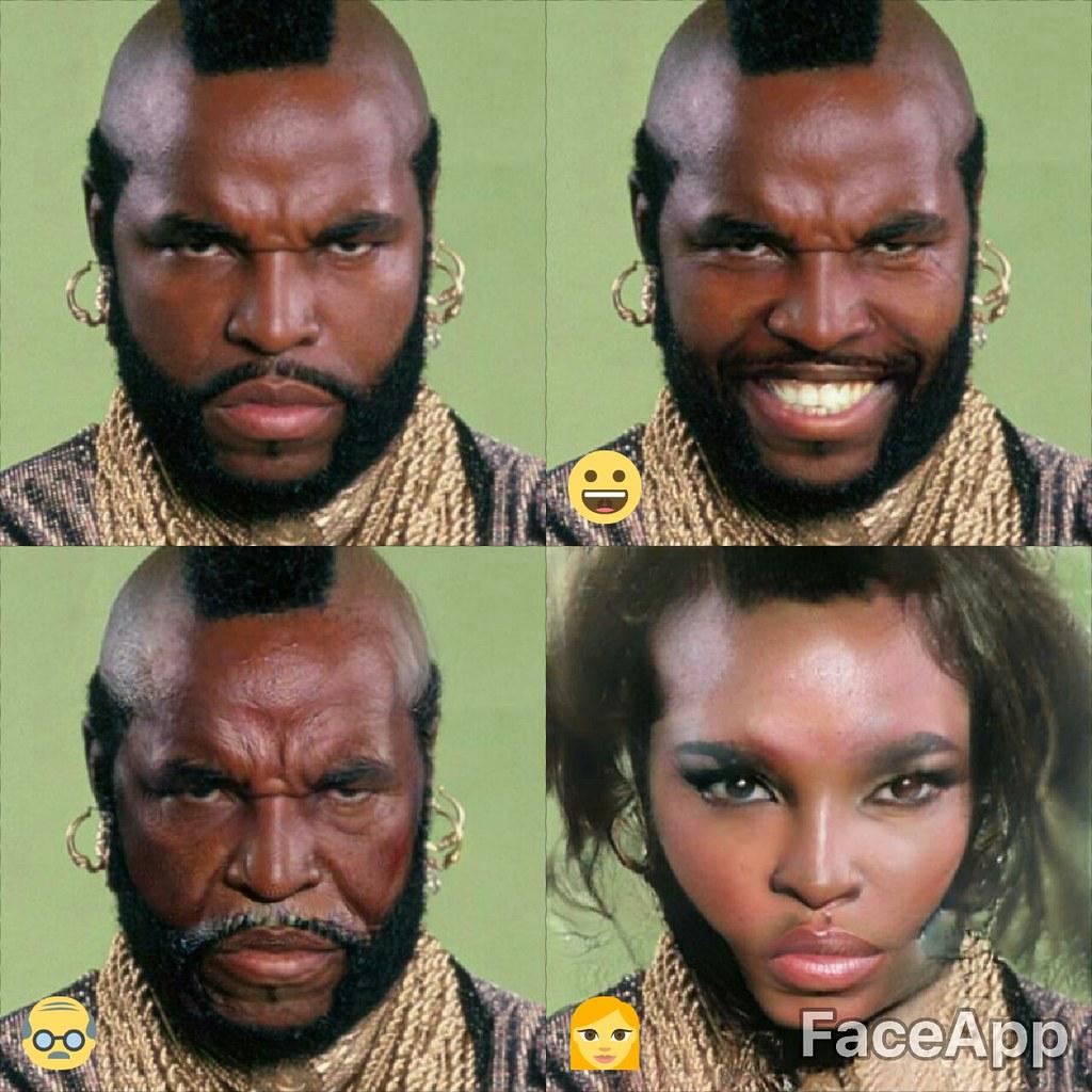 Mr T Faceapp A Team Ba Baracus B A Ba Ba Funkyellow