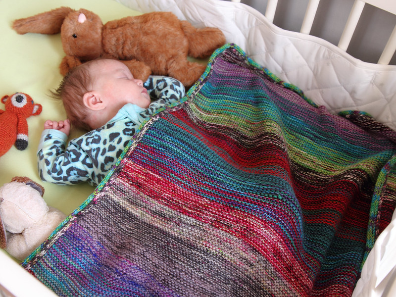 marled baby blanket