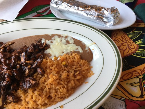 Mole-smothered chicken