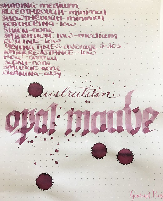 Ink Shot Review @RobertOsterInk Australian Opal Mauve @NoteMakerTweets 7