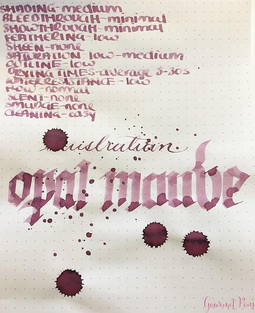 Ink Shot Review @RobertOsterInk Australian Opal Mauve @NoteMakerTweets 7