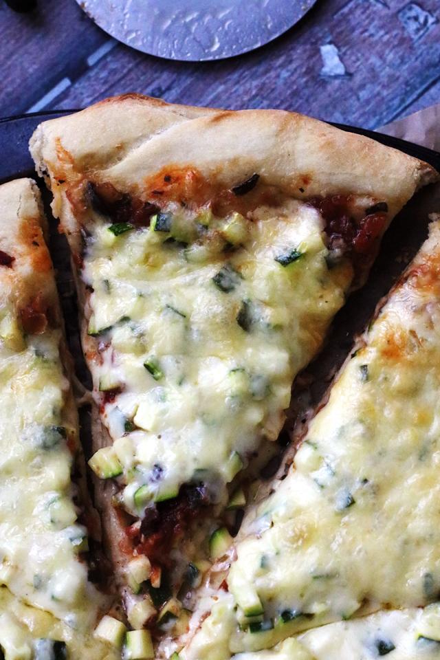 Zucchini Bruschetta Pizza