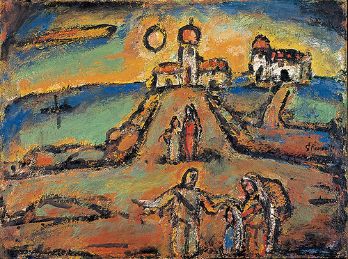 ジョルジュ・ルオー《秋の夜景》(1952年、パナソニック汐留ミュージアム蔵)