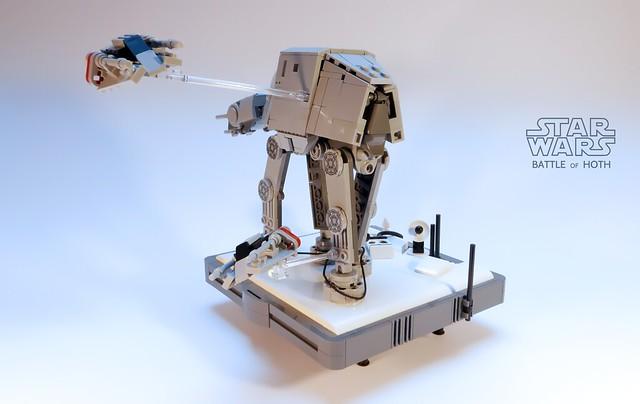 Nanofigure-scaled AT-AT LEGO MOC v3.0