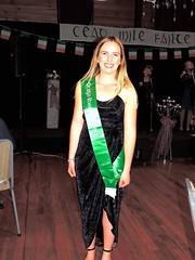 Sommer O'Shea, representing the Otago Irish Society.