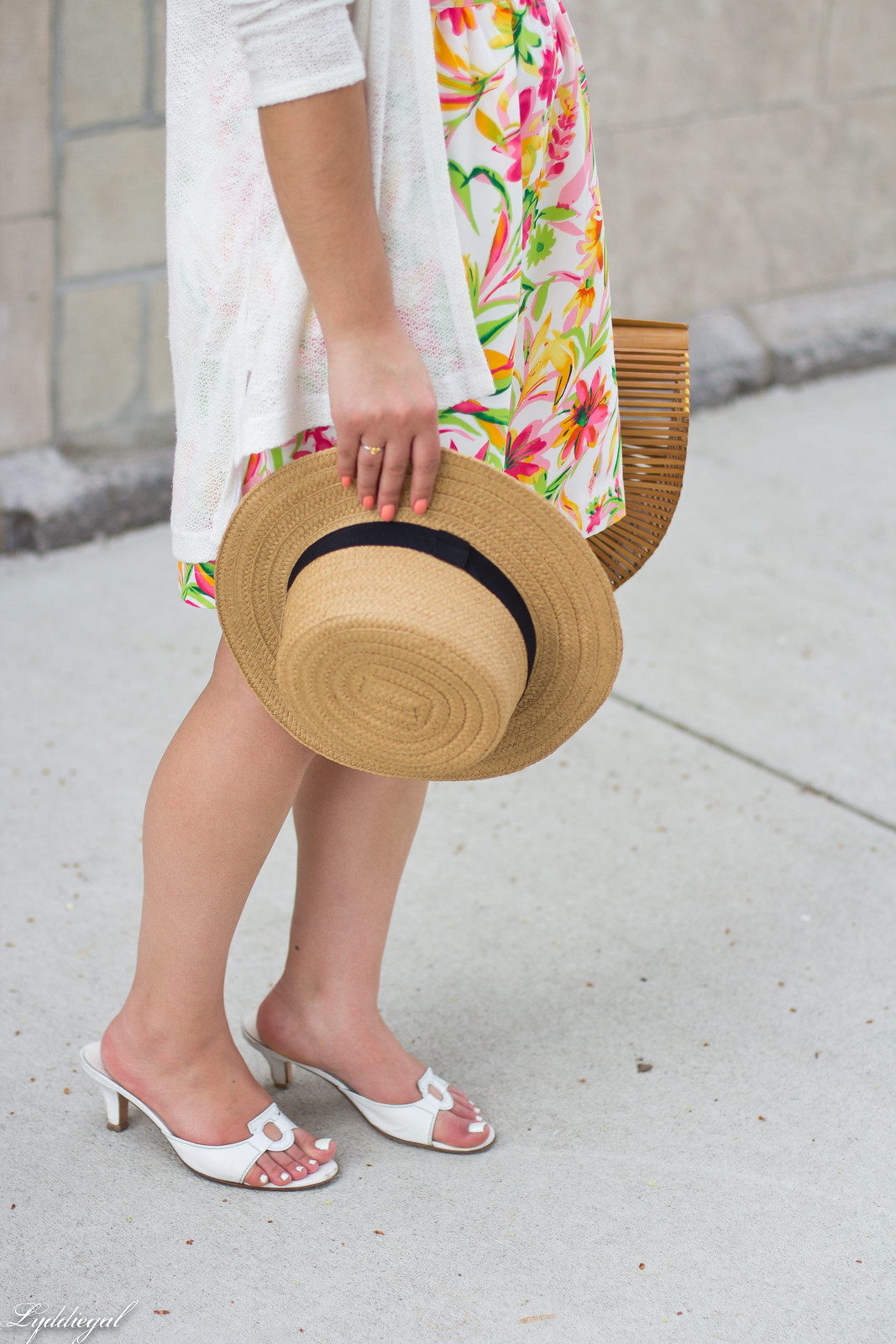 floral dress, white cardigan, straw hat, bamboo bag-7.jpg