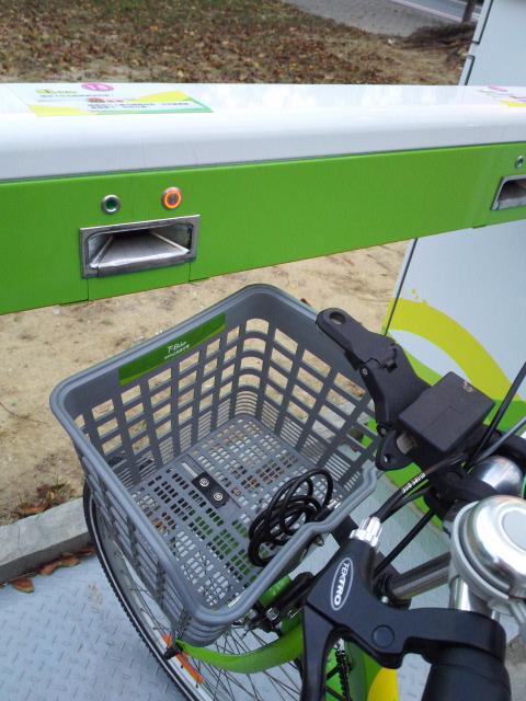 T-bikeのドッキング