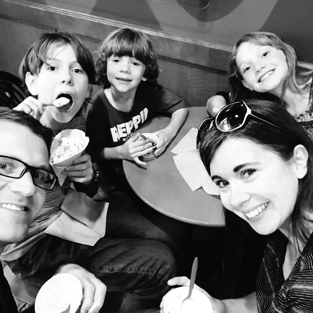 family at Coldstone