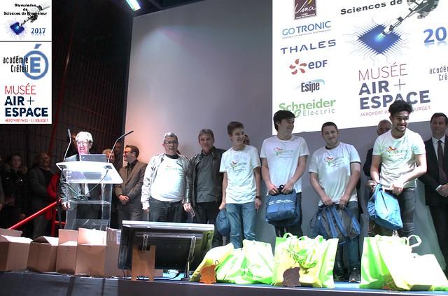 Trois lycées primés aux Olympiades des sciences de l'ingénieur 2017
