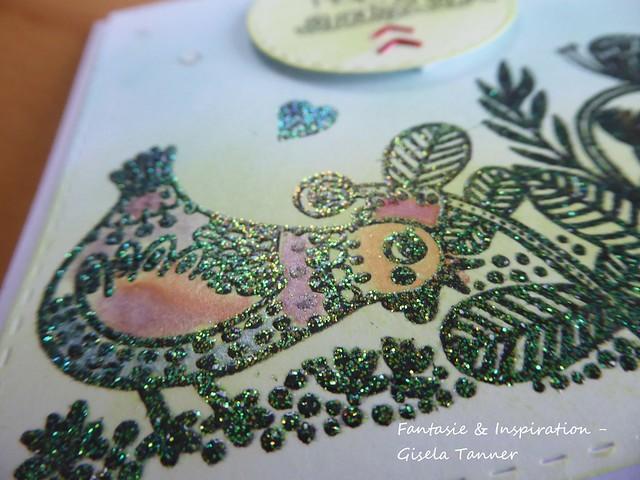Glitzereffekt - Frühlingskarte