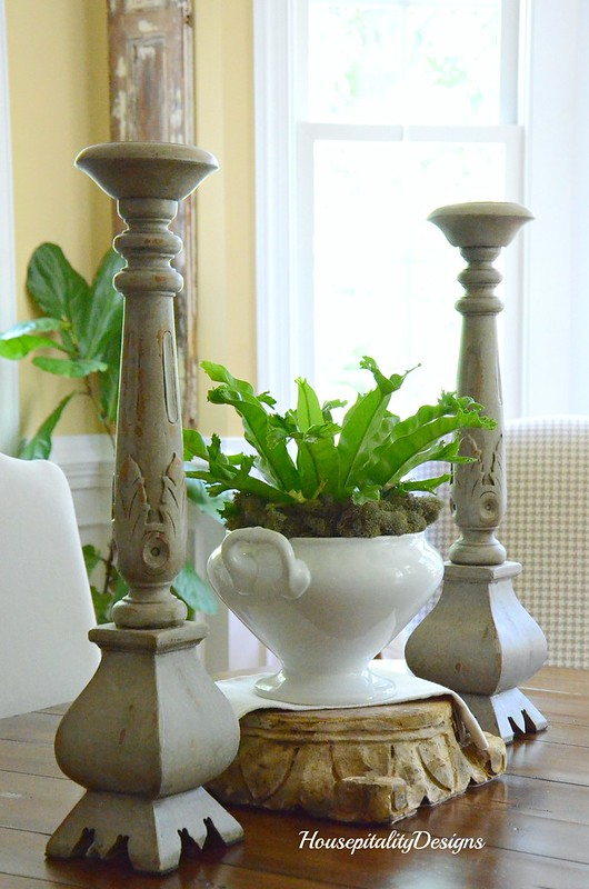 Dining Room-vignette-French Candlesticks-Housepitality Designs