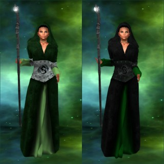 (RP) Kelekona Robe - Green Orig & Bonus Color Collage | by melyna.foxclaw