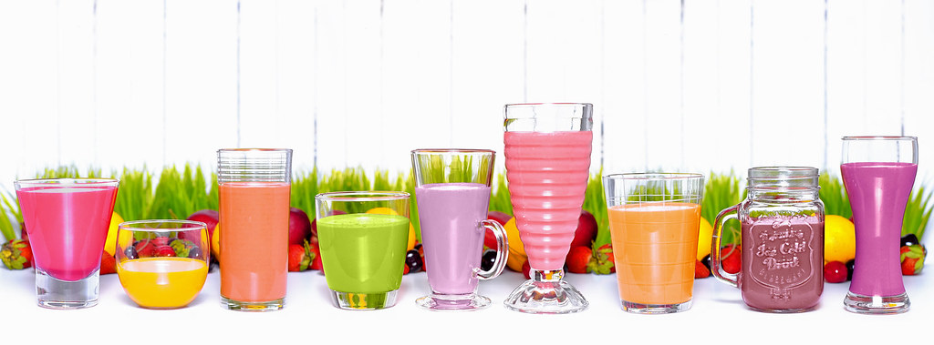 Terms Of Use >> Smoothies in a row   You're free to use this photo for edito…   Flickr