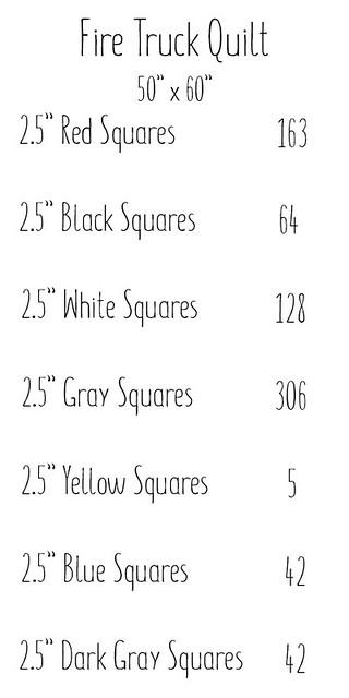 Firetruck Squares