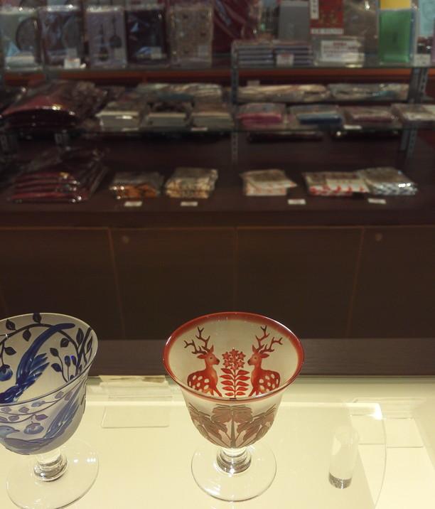 鹿柄グラス奈良国立博物館
