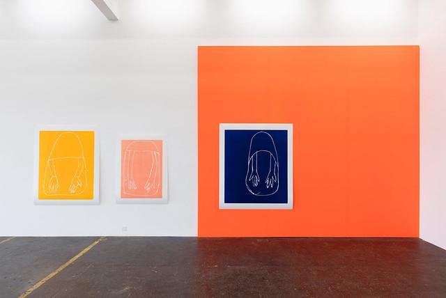 Installation view of 'Andrea Büttner: Gesamtzusammenhang', Kunst Halle Sankt Gallen, Switzerland, 2017. Photo: Kunst Halle Sankt Gallen, Gunnar Meier