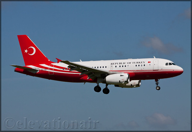TC-IST Airbus A319-133(CJ) Government of Turkey
