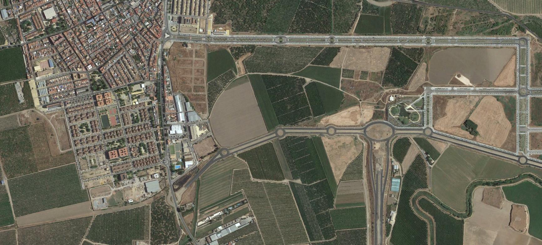 la rinconada, sevilla, polinada, después, urbanismo, planeamiento, urbano, desastre, urbanístico, construcción, rotondas, carretera