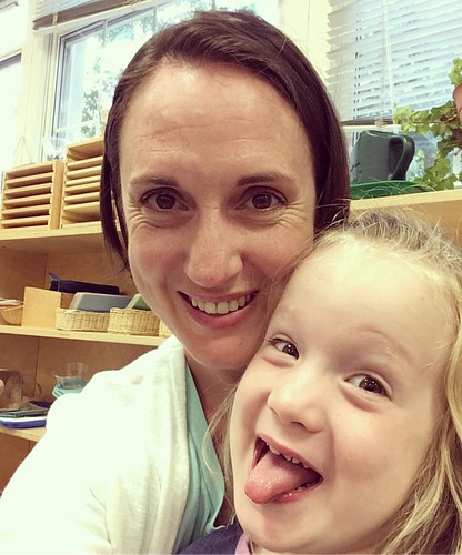 Mother's Day breakfast w/my silly, sweet girl at school.