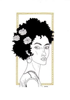 2-la femme en fleur