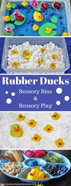 Rubber Ducks Sensory Bins & Sensory Play
