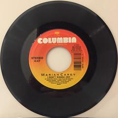 MARIAH CAREY:I DON'T WANNA CRY(RECORD SIDE-A)