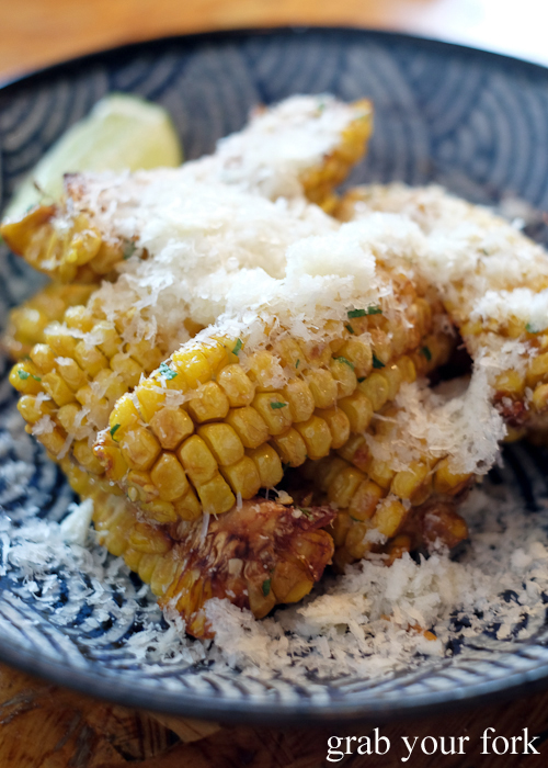Fried sweetcorn with dashi brown butter at Ms G's in Potts Point Sydney