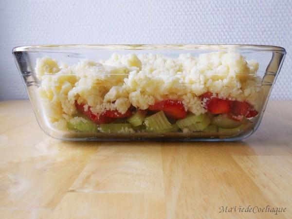 crumble fraise rhubarbe sans gluten sans lactose