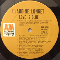 CLAUDINE:LOVE IS BLUE(LABEL SIDE-A)