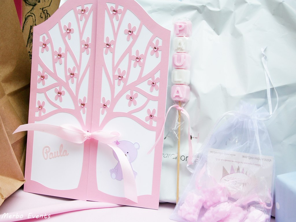 Baby Shower niña osita rosa Merbo Events