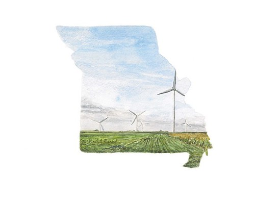 Missouri. Painted by Artist Rachel Alvarez