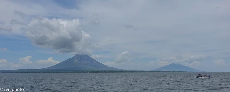 Isla de Ometepe en lago Cocibolca, Nicaragua