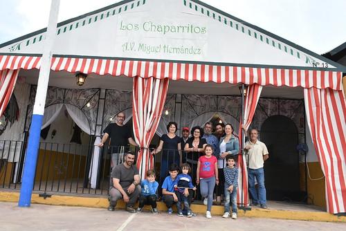 Cambio de caseta de Los Chaparritos de la A.V. Miguel Hernández