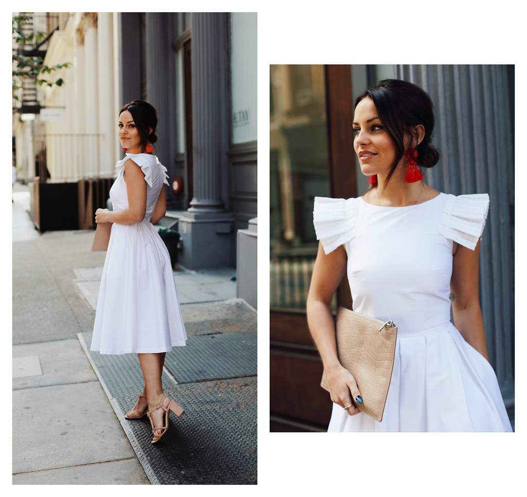 The Little Magpie Ted Baker white dress wedding