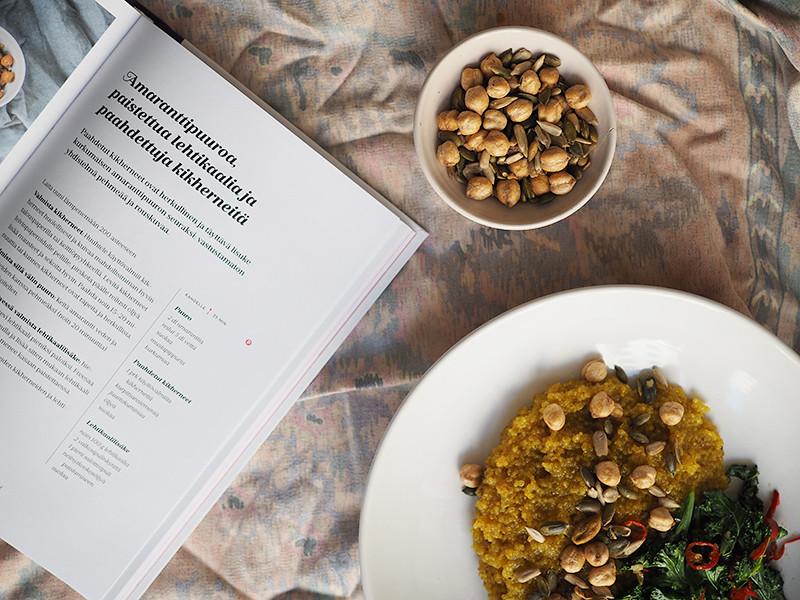 Suolainen kvinoapuuro paahdetuilla kikherneillä Earth Control