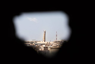 As seen from a sniper hole, the Al-Nuri Mosque, where Abu Bakr al-Baghdadi appeared in 2014 to announce the formation of the new Caliphate. #Mosul #ISIS #War #Iraq #Photography | by Quentin Bruno Photography