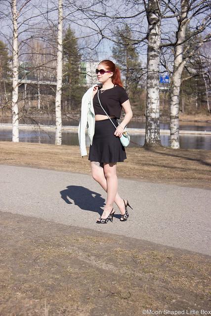 OOTD Tyyli Esprit Urban Classics Tyyliblogi Muoti Guess Heels highheels leathershoes fashionblog Finland Pohjois- Karjala style blog
