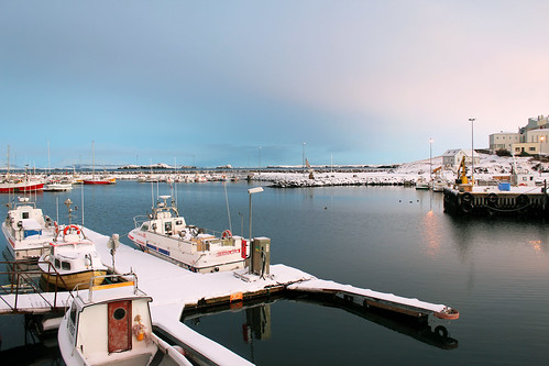 Snow covered boats at Stykkishólmur Village | by saraflossy