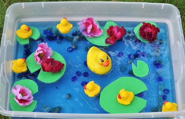 Rubber Duck Pond Sensory Bin
