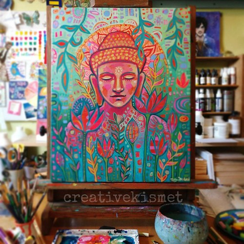 Buddha in Bloom - art by Regina Lord