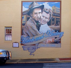 Image result for hank and audrey williams mural
