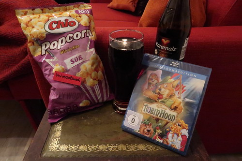 "Süßes Popcorn (von Chio) zum Walt Disney Klassiker ""Robin Hood"""
