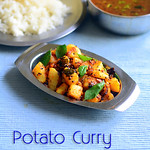Easy Potato Poriyal/ Boiled potato curry for rice