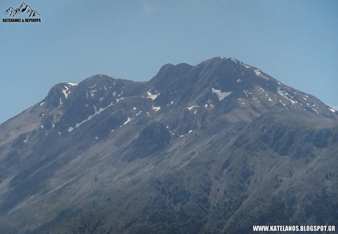ολυτσικα ορος τομαρος βουνο χιονουρες κορυφη ανοιξη
