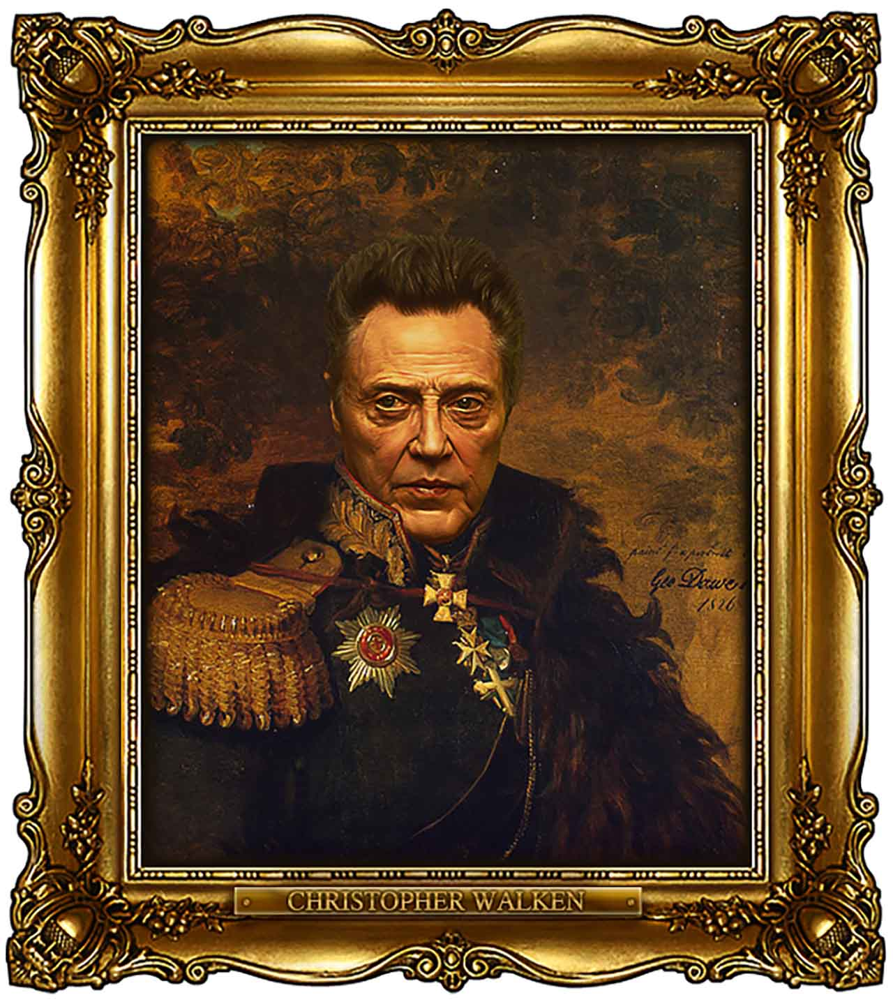 Artist Turns Famous Actors Into Russian Generals - Christopher Walken
