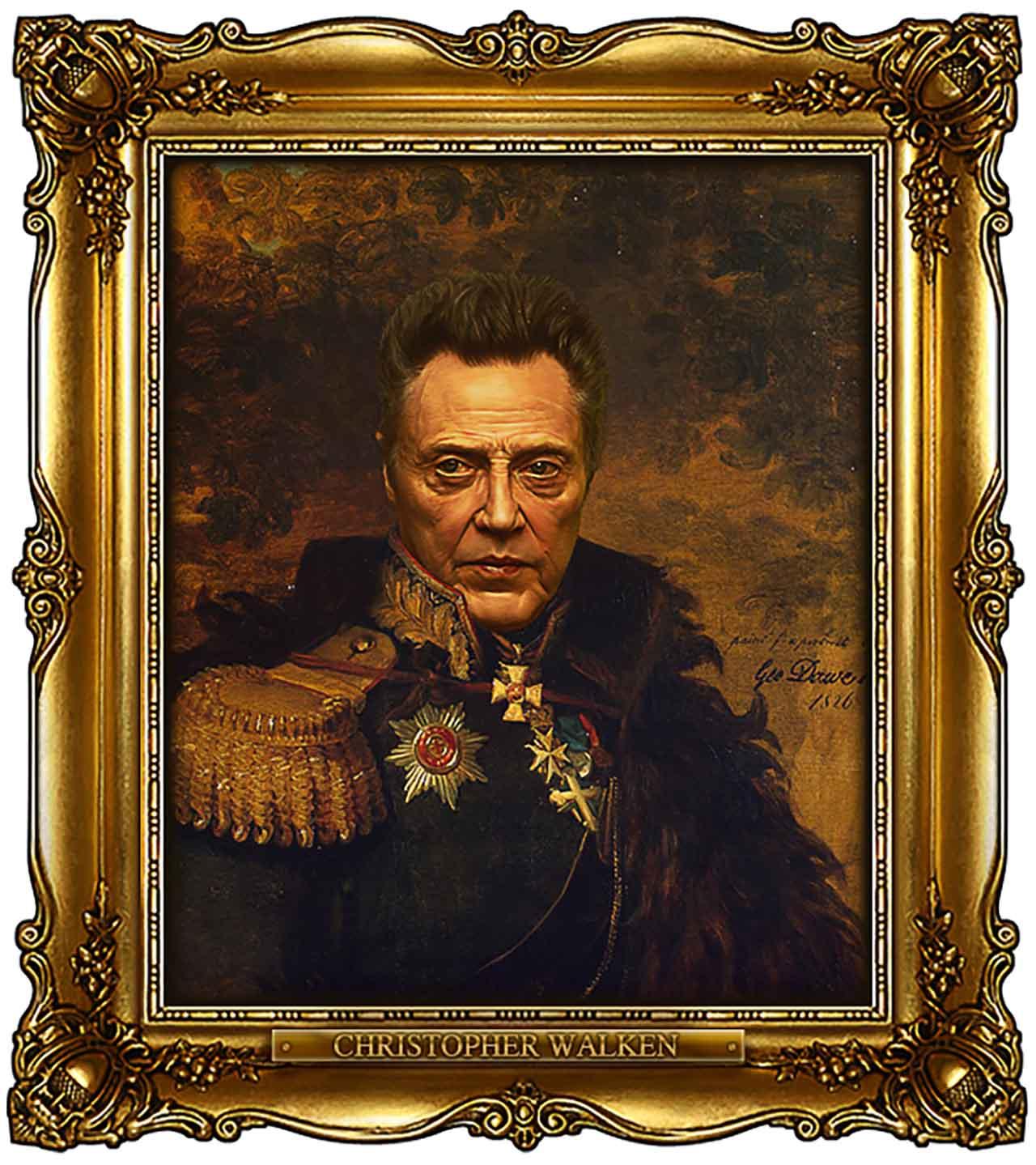Artist Turns Famous Actors Into Russian Generals - Christopher Walken